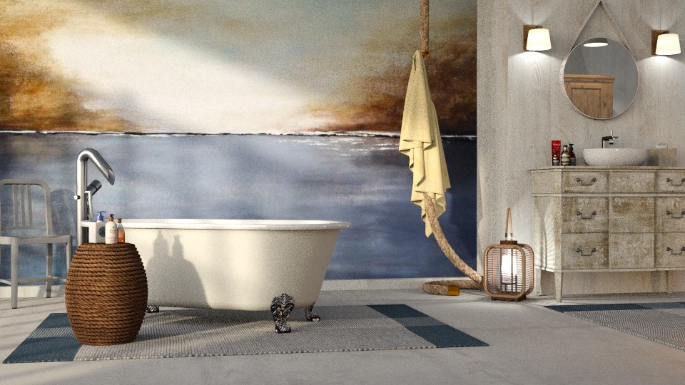 Nautical Bathroom - Bathroom  - by GraceKathryn
