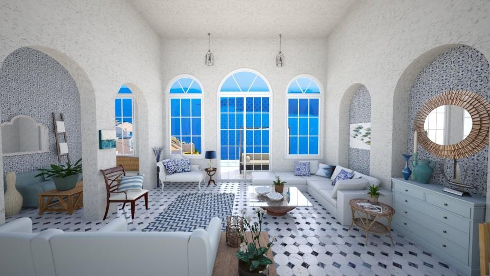 greek paradise - Living room - by Georgina Holly