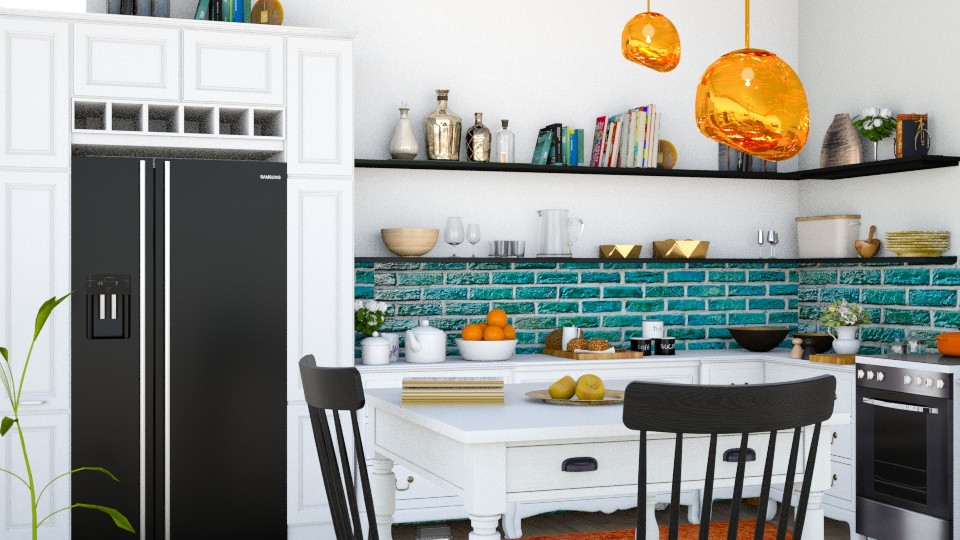 Eclectic2 - Kitchen - by ArtHousedeco