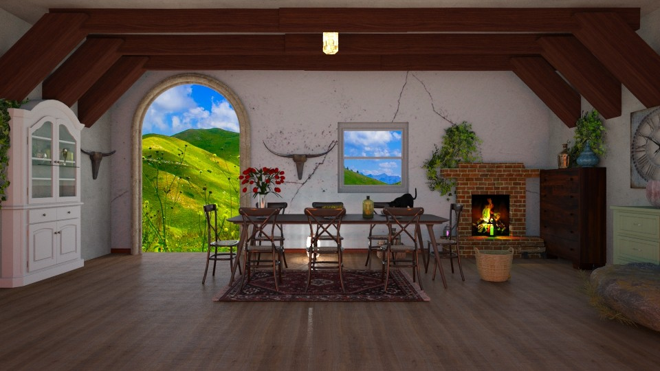 Oud huis - Dining room - by kolibrie_designer