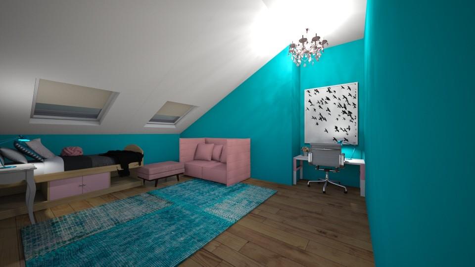 Soft attic bedroom - Feminine - by JarvisLegg