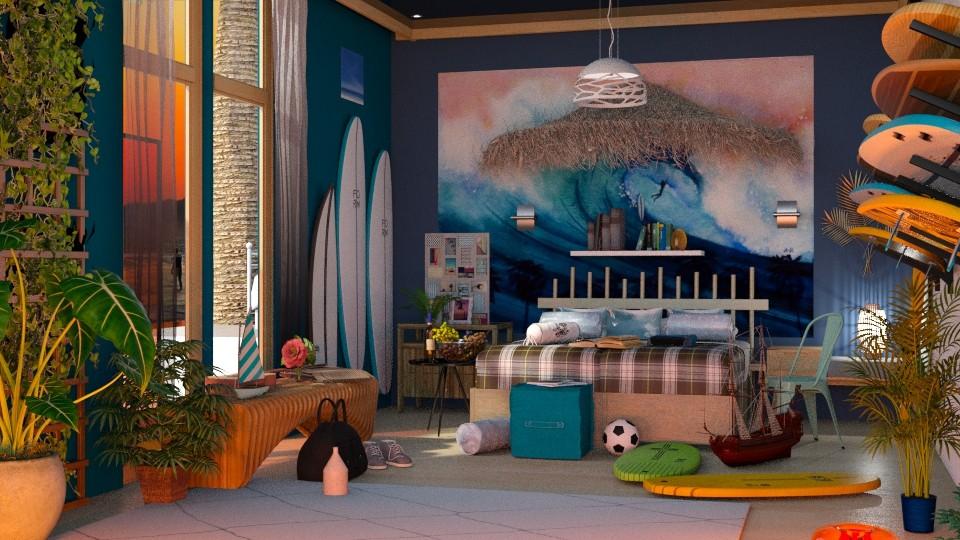 Surf Bedroom_I - by Laura_Barsa
