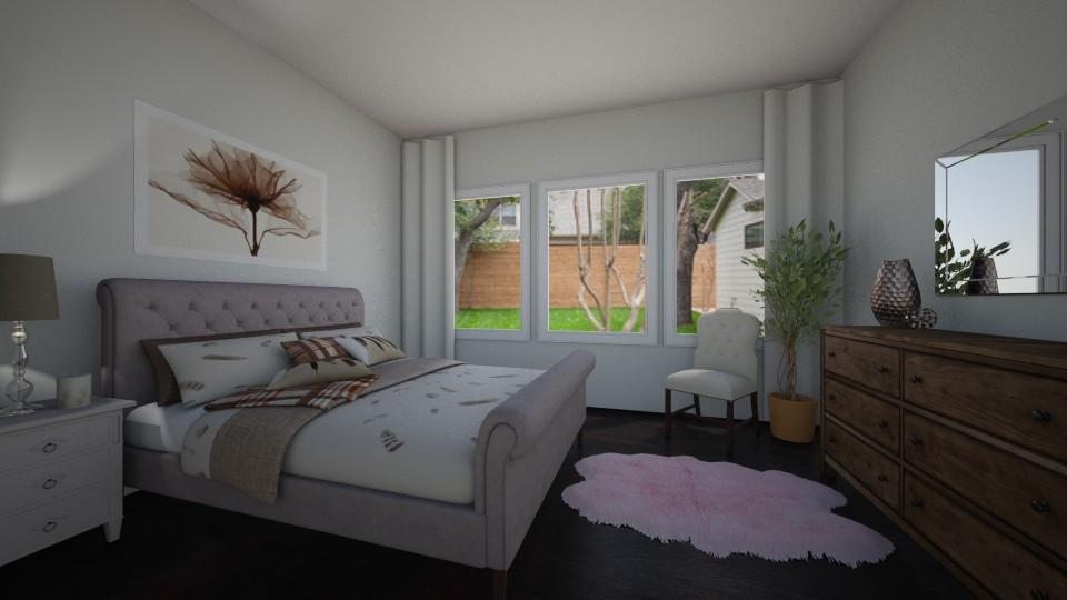Dark Floors - Bedroom - by chicki3812
