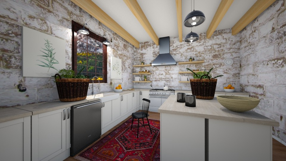 Cozy - Country - Kitchen - by artist4568