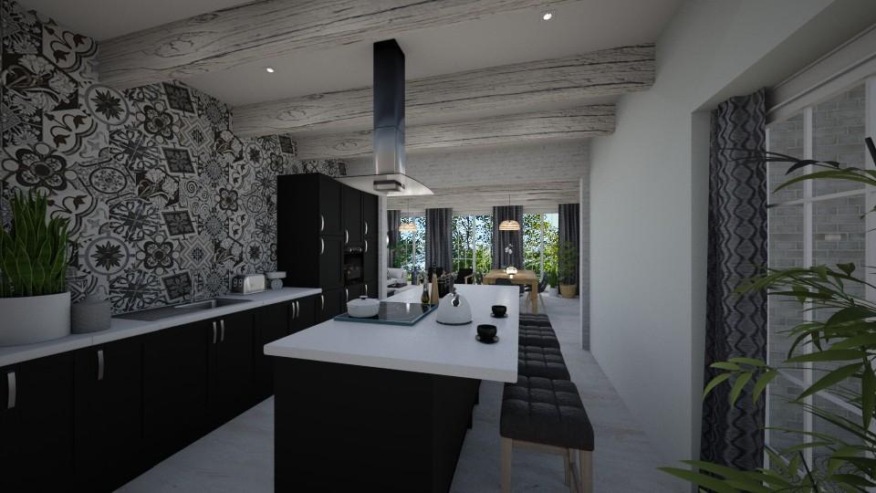 Boho kitchen - Rustic - Kitchen  - by tornadolynn