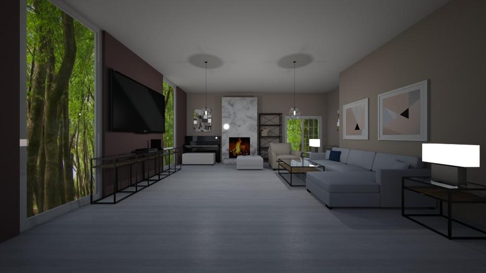 I - Living room - by The cartoon fan