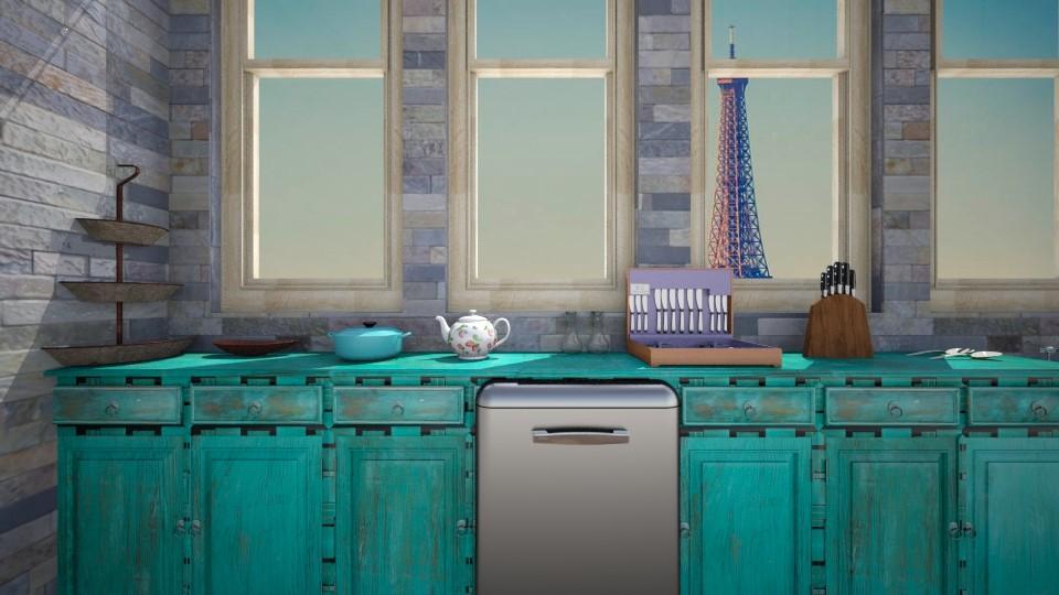 quirky  - Kitchen - by Cheyenne Stephenson_339