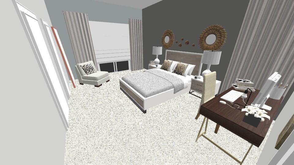 2nd Floor Master - Modern - Bedroom  - by Anilu Oms