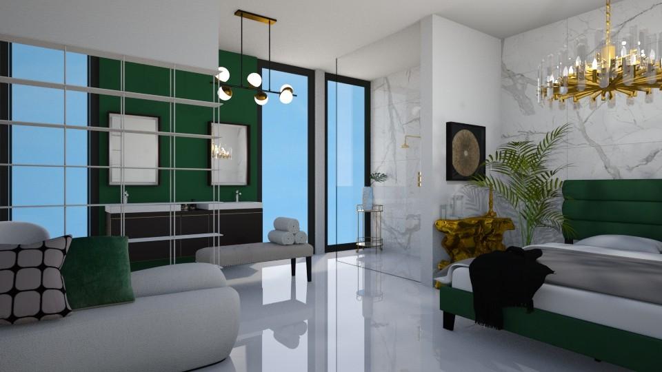 green bedroom - Office - by _xandra_
