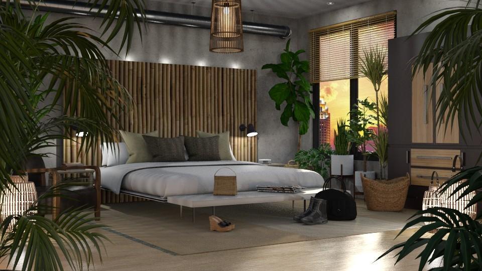 Urban Jungle Bedroom - Bedroom - by GraceKathryn