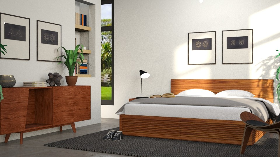 walnut bedroom - Modern - by Dayanna Vazquez Sanchez