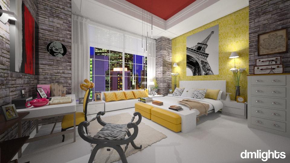 Amarelo - Bedroom - by Roberta Bela