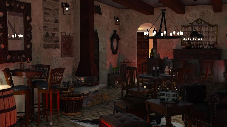 Western bar - by aniachoynowska