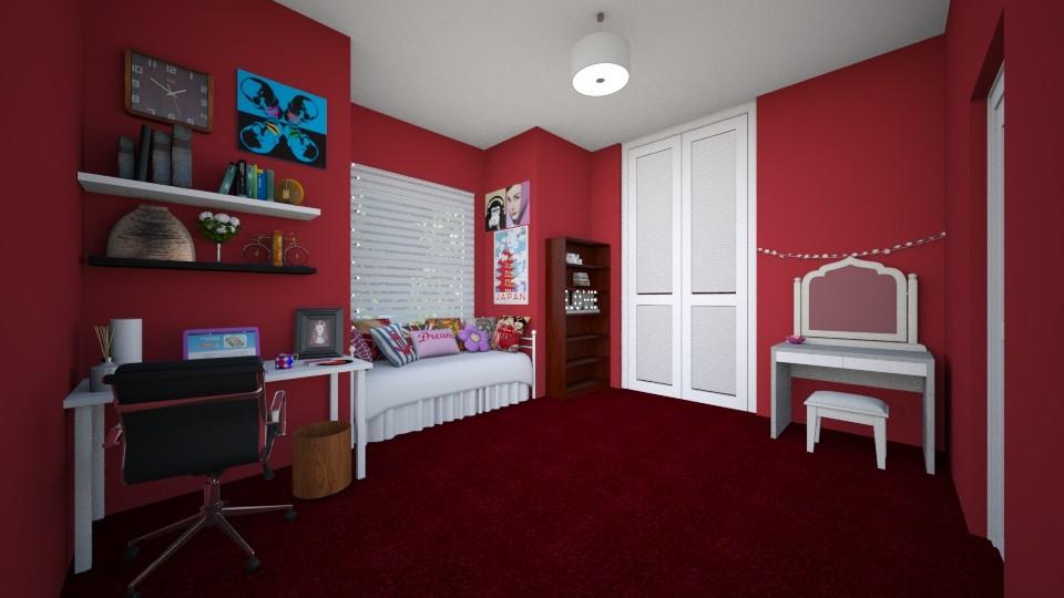 Teen Room - Bedroom - by ijustlikemakingfloorplans