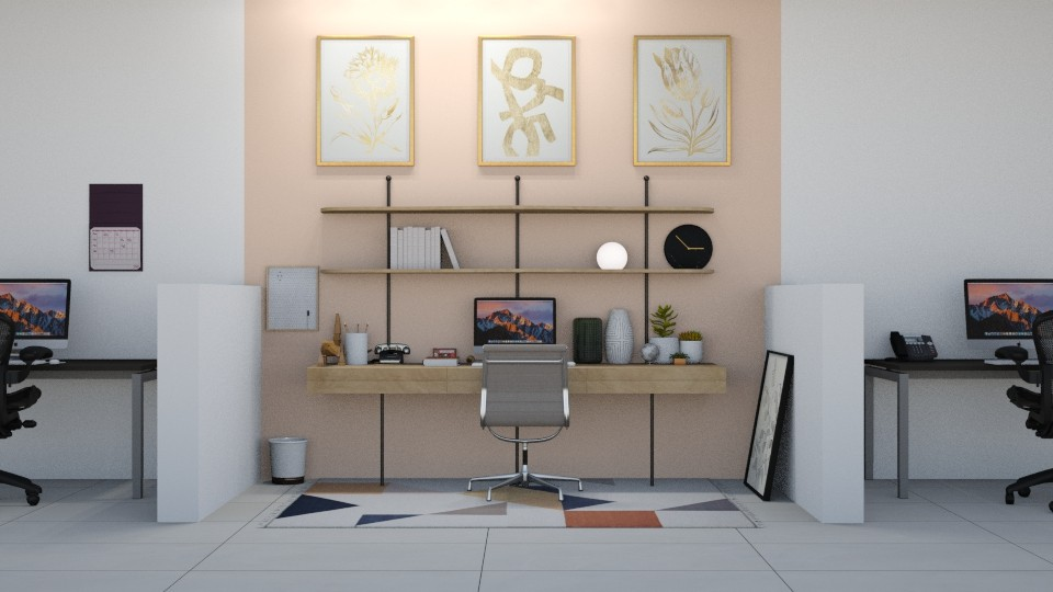Modern Playful Office - Modern - Office - by helsewhi