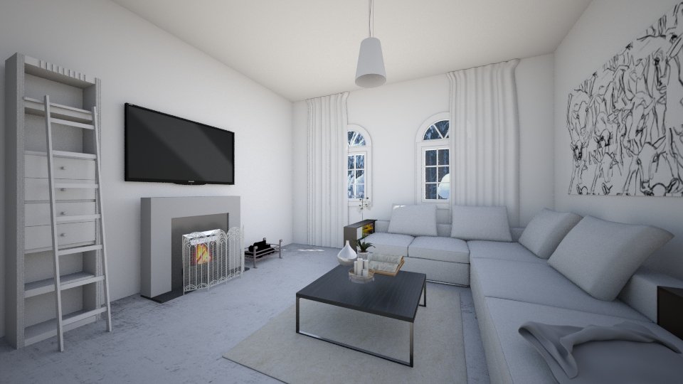 Winter house - Minimal - Living room - by anamarija00