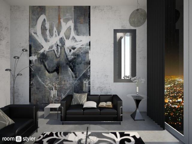 Graffiti Living - Living room - by RedVelvet21