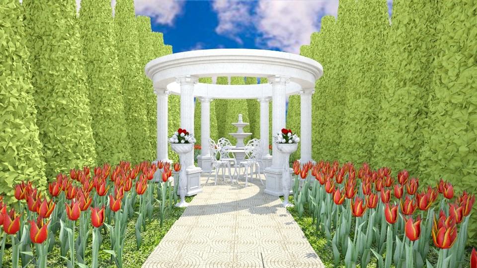 Tulip Garden - Garden - by Cairalacas