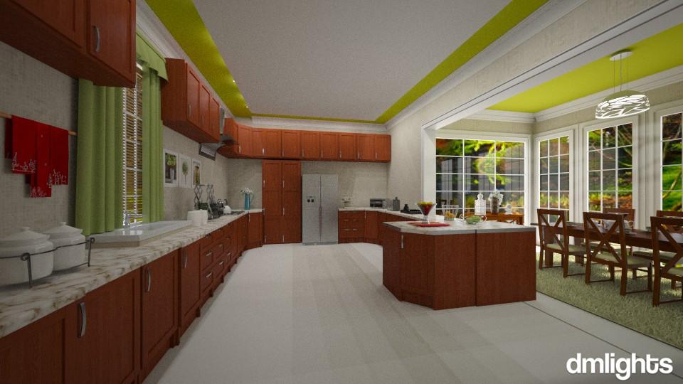 Cozinha ampla - Dining room - by Roberta Bela