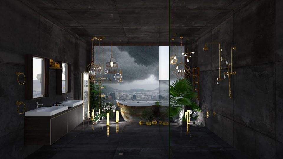 Dark and Stormy - Modern - Bathroom - by lizasvetlin