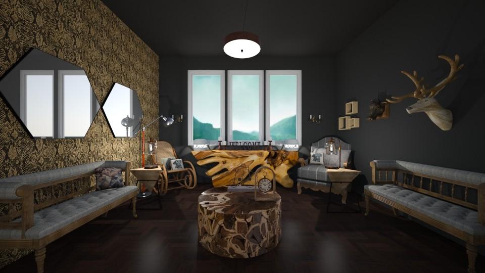 wood living room - Living room - by nicolaswiggins