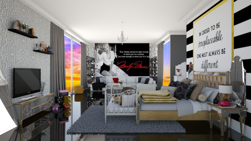 Diva Room - Glamour - Bedroom - by carina68
