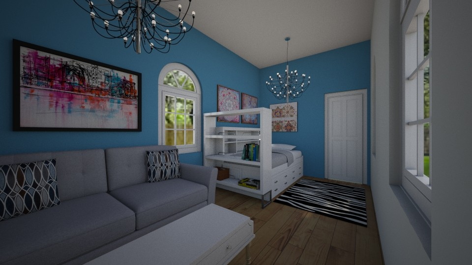 bedroom and living room - by chloe_mccarty