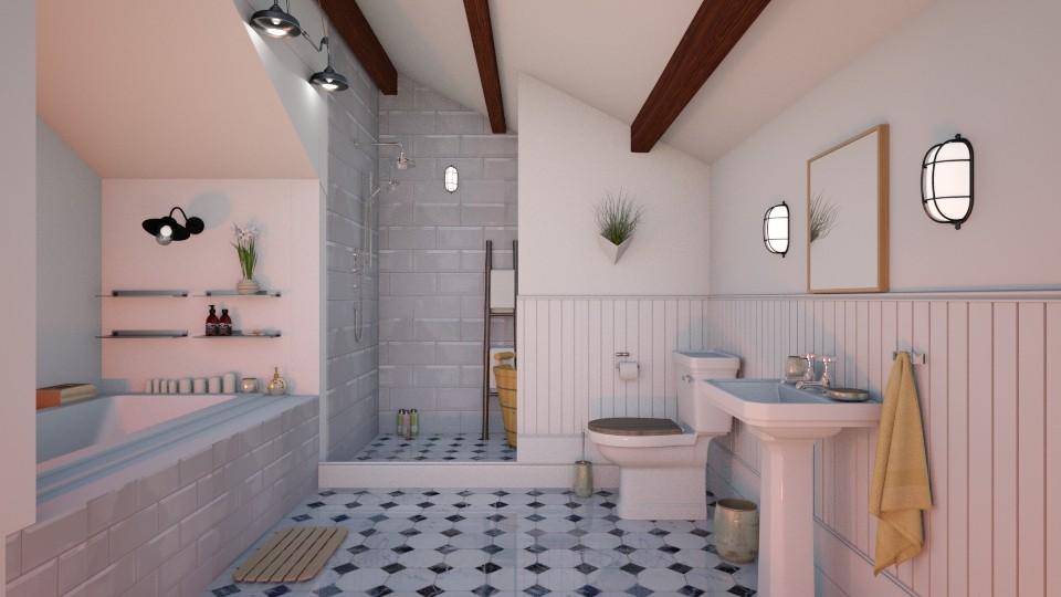 White Attic Bathroom - Bathroom  - by Laurika