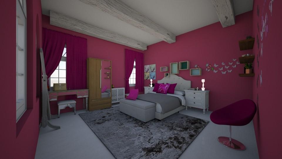pink passion - Feminine - Bedroom - by crystalg98