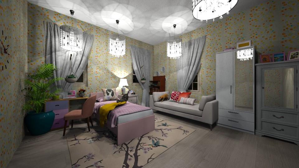 girl - Bedroom - by yukicrossnowblood