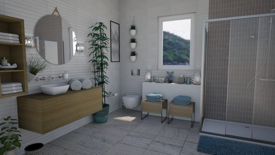 A Small Oasis - Minimal - Bathroom - by Nina Colin