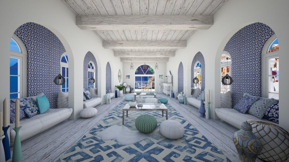 Greek living - Global - Living room - by pandajoy
