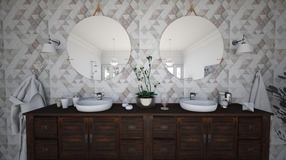 Simmetry bathroom - Bathroom - by IIreneII