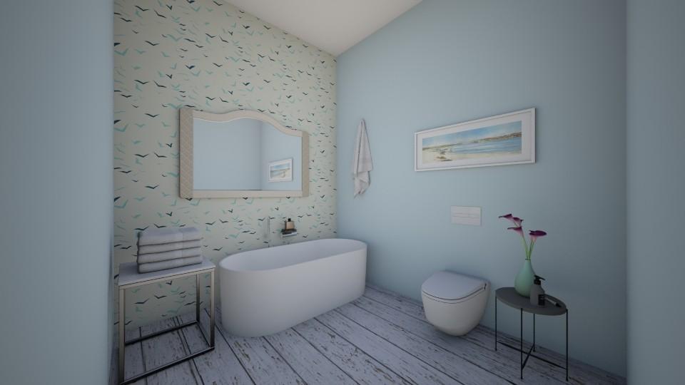 Blue_Bird_Bathroom - by Love dogs 111