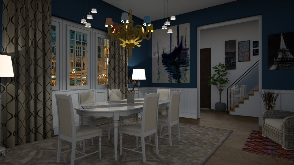 S_Light Dinning  - Dining room - by Shajia