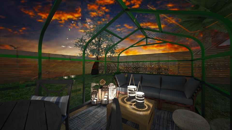 greenhouse sunset - Garden - by Wohooo