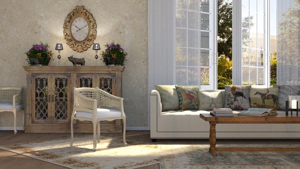 Country Spring - Living room  - by GraceKathryn