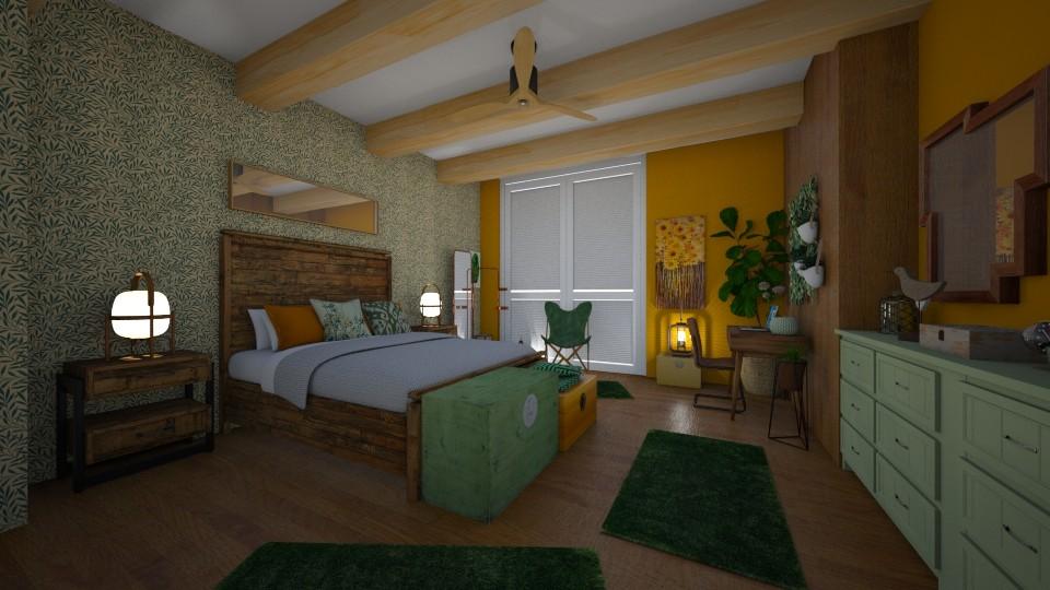 JUNGLE - Bedroom - by Vasiliki Stagkidou