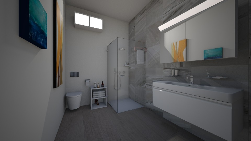 modern bethroom - Bathroom - by anaclaraalvesjianelli