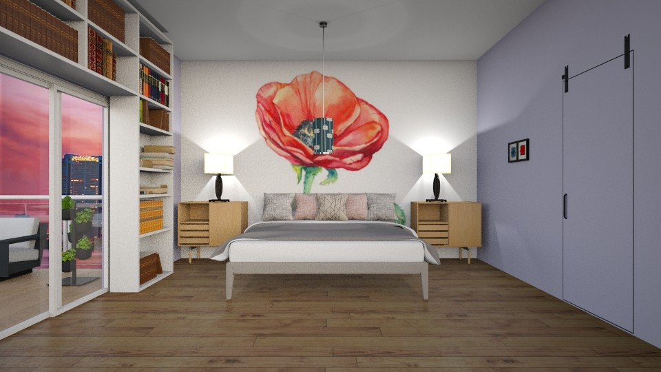 city poppy apartment  - Glamour - Bedroom  - by aschaper