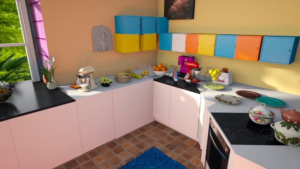 Veelkleurige gekke keuken - Kitchen - by kolibrie_designer