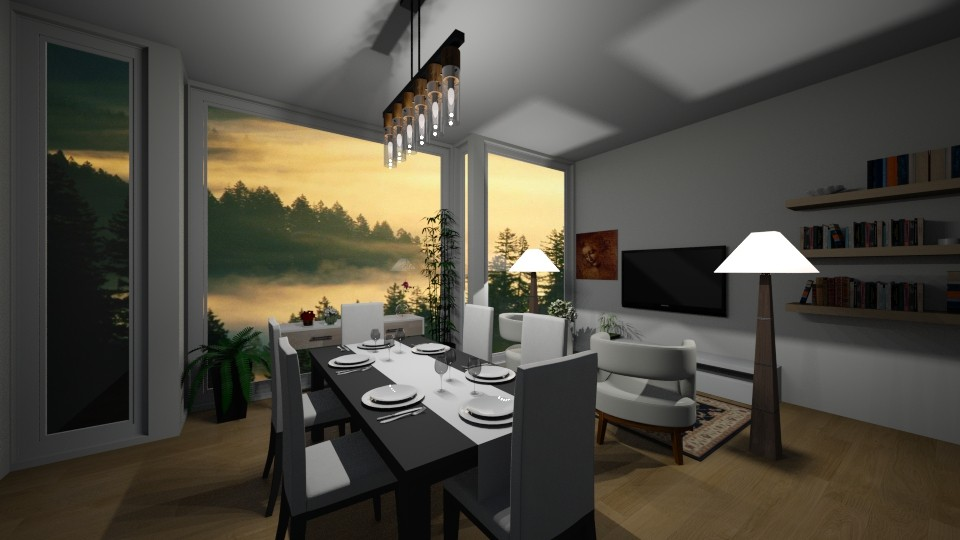 design  - Dining room - by silent scream
