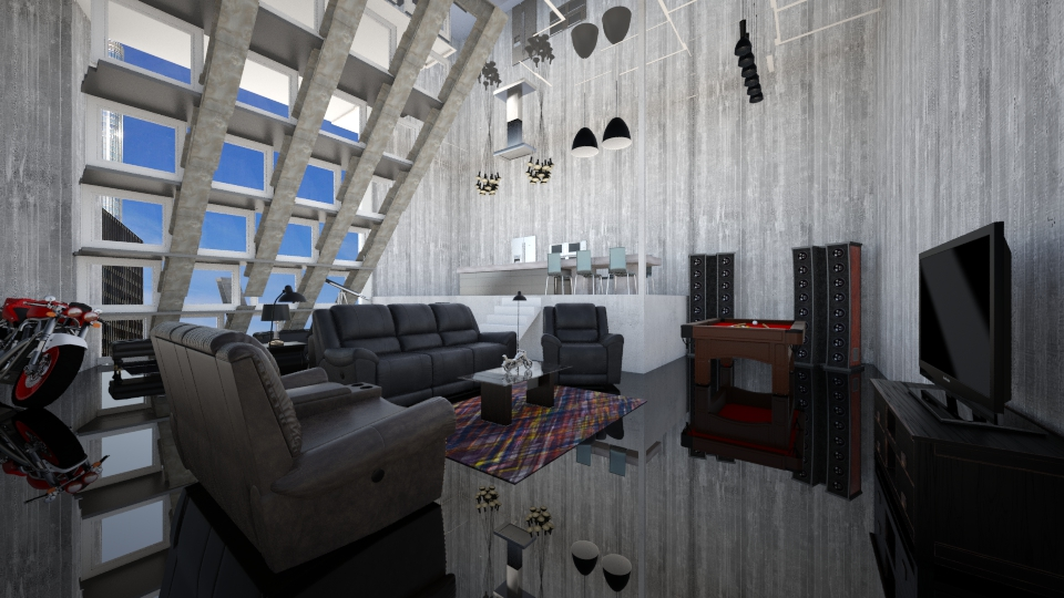bachelor pad - by Interiors by Laura