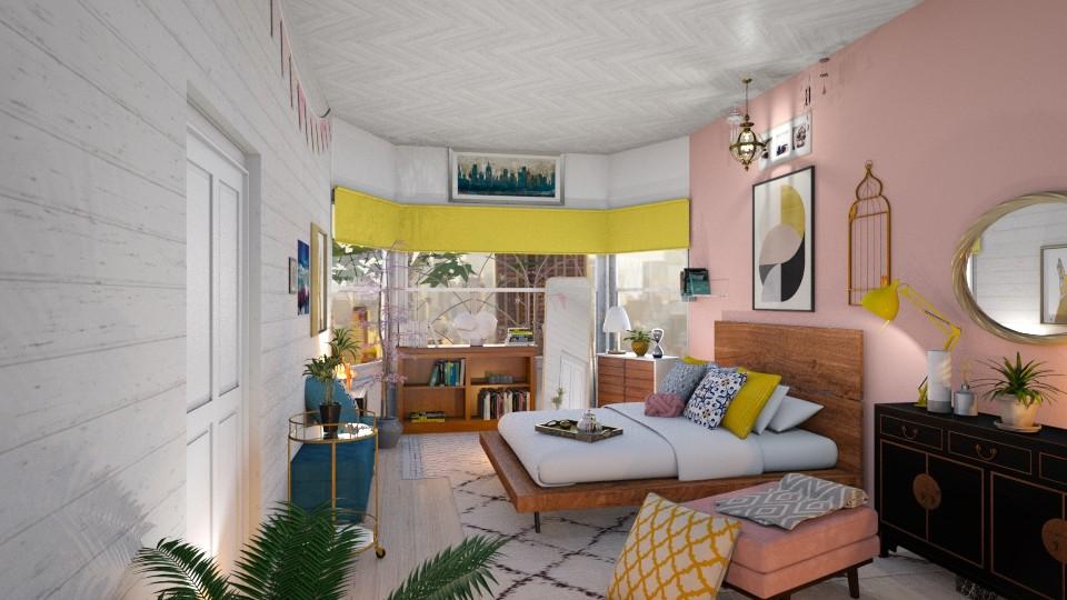 Spring Teen Room - Feminine - Bedroom - by WubMaxWax