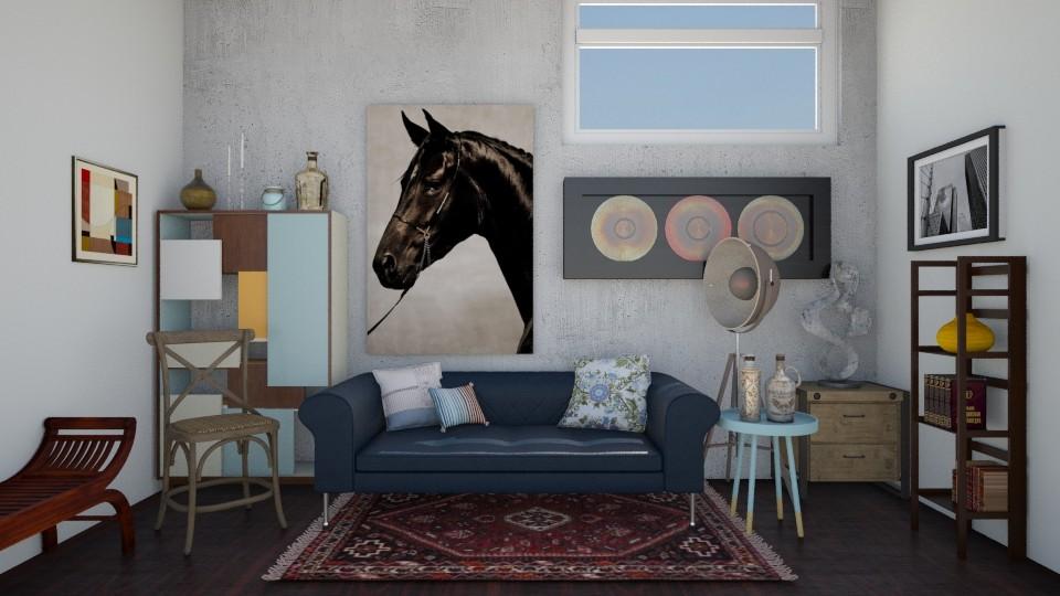 R1 - Retro - Living room - by Karim Mahfouz