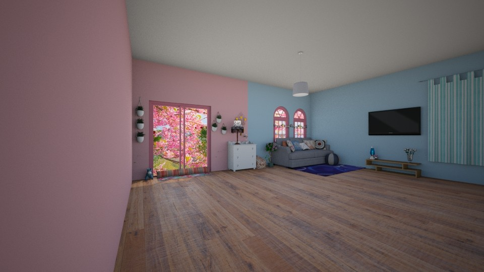 cute pastel  - Living room - by wolfiewolf123