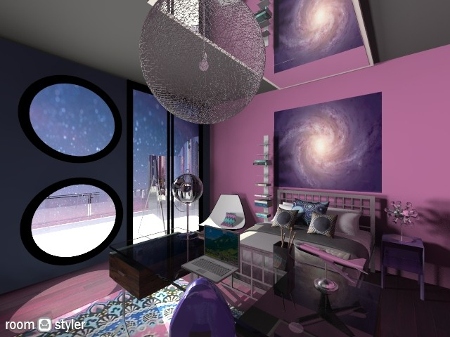 Cosmic girl - Bedroom - by nikkisp