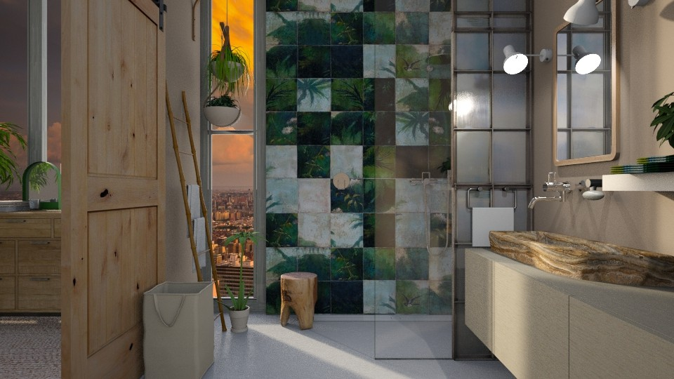 jungle - Bathroom - by marinmarin