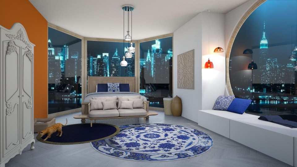 blue bedroom - by jessiex___