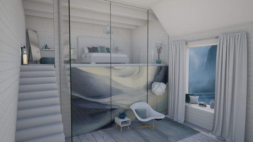 Okeeffe modern bedroom - Bedroom  - by ginamelia22